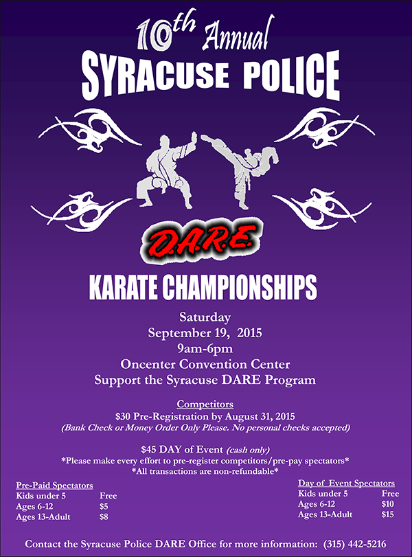 10th Annual Syracuse Police D.A.R.E. Karate Championships