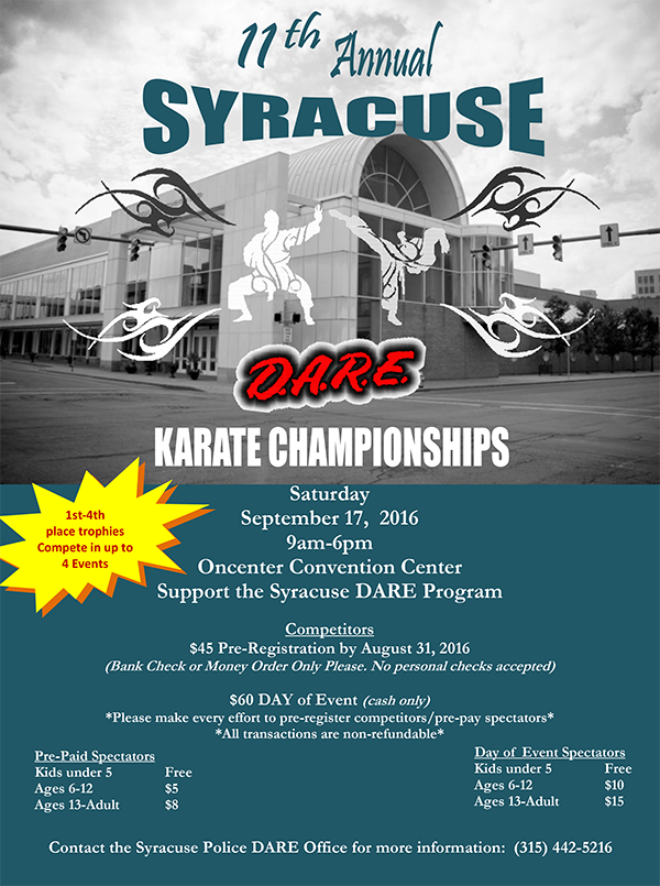 11th Annual Syracuse Police D.A.R.E. Karate Championships